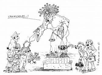 Justicia ramera – Caricatura del día por Herney Nieto