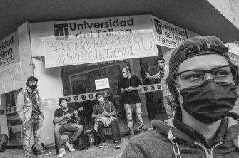 Huelguistas a la espera de reunión con la administración de la Universidad del Tolima