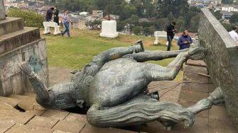 Estatua de Sebastián de Belalcázar no iría más en El Morro de Tulcán de Popayán