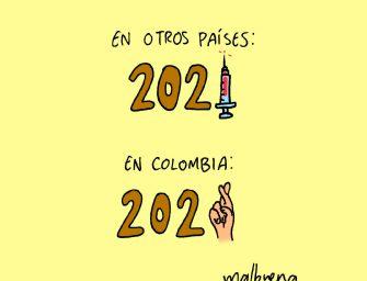 Vacunación en Colombia – caricatura del día por Malbuena