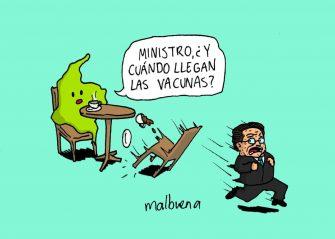 ¿Cuándo llegan las vacunas? – Caricatura del día por Malbuena