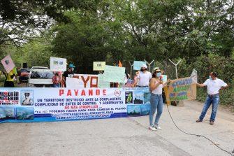 Payande se movilizó en contra de la multinacional cementera CEMEX