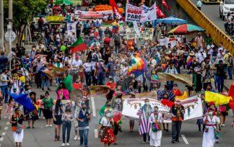 CONTUNDENTES MANIFESTACIONES EN TODO EL PAIS Y EL EXTERIOR ¡EL PARO CONTINUA!