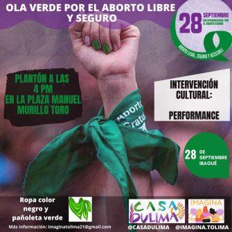 Ola verde por el aborto libre y seguro